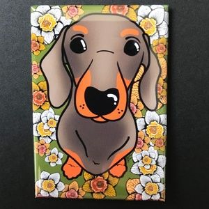 60 Dachshund Silhouette Stickers High Quality Pink Vinyl Envelope Seals Dogs
